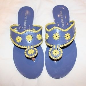 Jack Rogers Sandals in Purple and Yellow